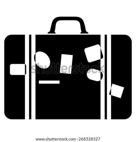 Suitcase - travel icon isolated on white background - stock vector