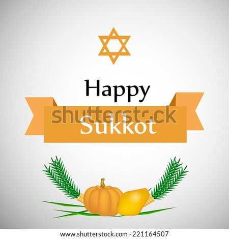 Sukkot Background - stock vector