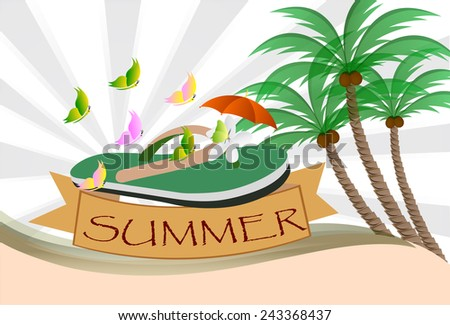 Summer background design, vector Illustrations .ESP 10. - stock vector