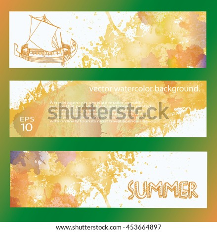 summer. banner. set - stock vector