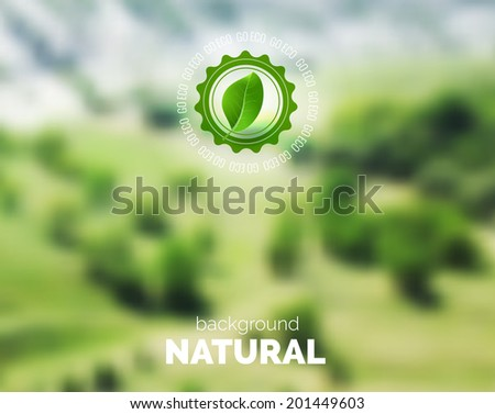 Summer blurred background. Blurry. Soft colors. Vacations and enjoy concept. Unfocused summer poster. Green ecology concept - stock vector