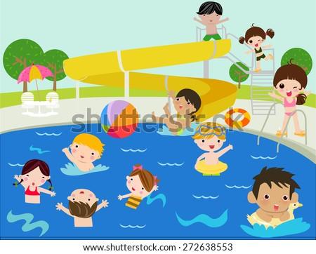 Summer children - stock vector