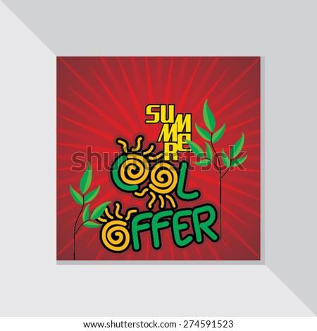 summer cool offer design template vector illustration - stock vector
