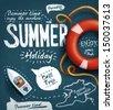 Summer creative design template - stock vector