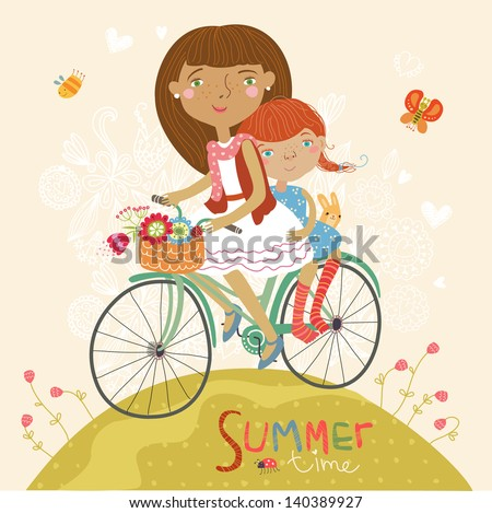 Summer fun illustration - stock vector