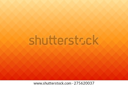 summer gradient orange square polygon pattern background (vector) - stock vector