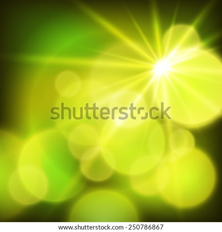 Summer green lime background with soft rays sun light. Hot with space for your message. Vector illustration EPS 10 for design presentation, brochure layout page, cover book or magazine - stock vector