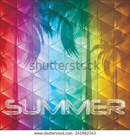 Summer holiday background.Tropical vector - stock vector