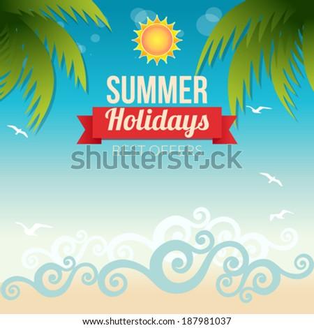 Summer Holidays - stock vector