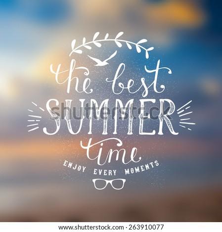 Summer lettering - stock vector