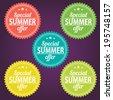 Summer offer stickers - stock vector