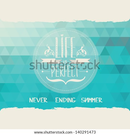 Summer poster.Typography.Vector illustration. - stock vector