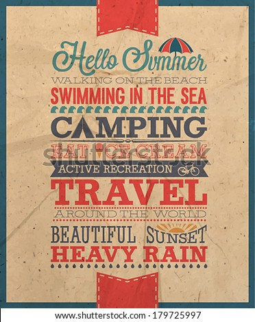 Summer poster/ Vector illustration - stock vector
