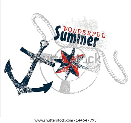 Summer Print - stock vector