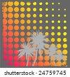 Summer retro design VECTOR - stock vector
