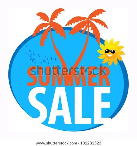Summer sale abstract, vector illustration - stock vector