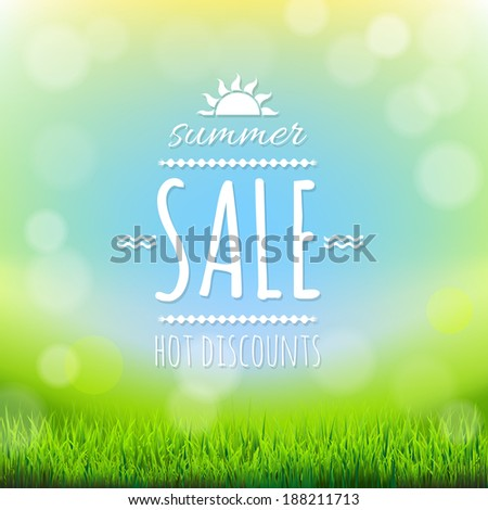 Summer Sale Banner, With Gradient Mesh, Vector Illustration - stock vector