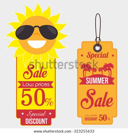 summer sale deals design, vector illustration eps10 graphic  - stock vector