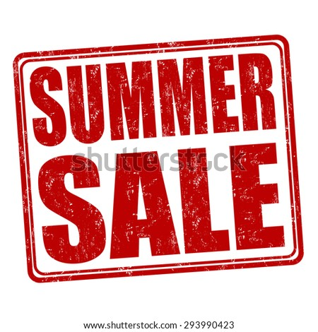 Summer sale grunge rubber stamp on white background, vector illustration - stock vector
