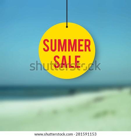 Summer sale, sale design, decoration for shop windows and shops, illustration for shopping catalogs - stock vector