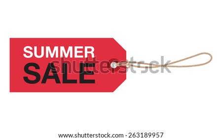summer sale sign - stock vector