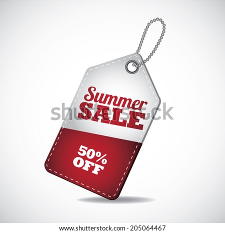 Summer sale tags. EPS 10 vector, grouped for easy editing. No open shapes or paths. - stock vector
