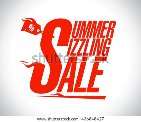 Summer sizzling sale advertising design - stock vector