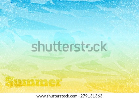summer textured abstract background, sand, sea, sky, vector background - stock vector