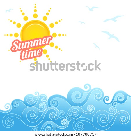 Summer Time - stock vector