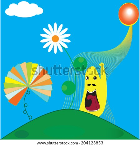 summer time abstract  - stock vector
