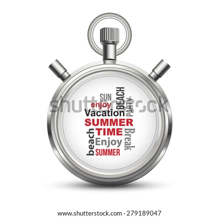 Summer Time Concept - stock vector
