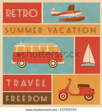 Summer Travel Design - stock vector