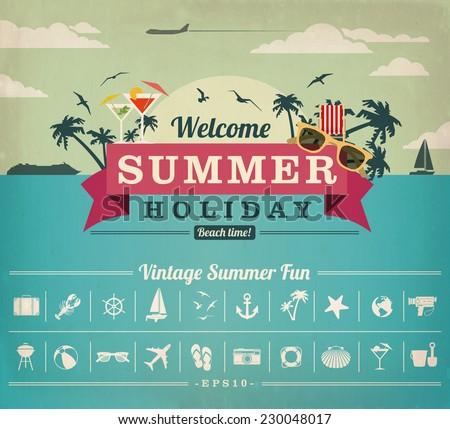 Summer Vacation - stock vector
