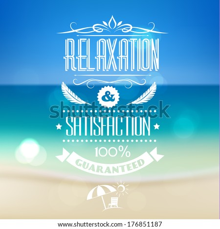 Summer vacations poster design - eps10  - stock vector
