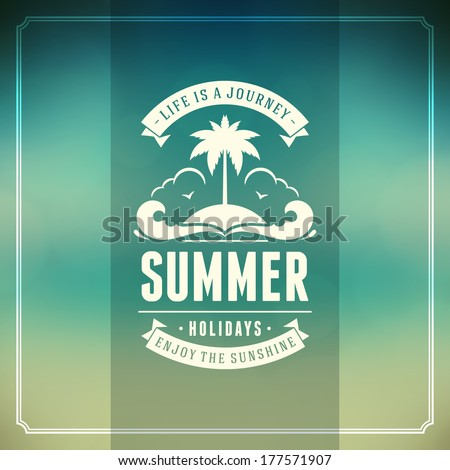 Summer vector typography. Summer holidays message for your design vector background. - stock vector