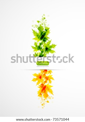 Summer vertical abstract nature background. Vector illustration - stock vector