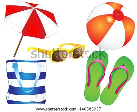 summertime - collection - stock vector