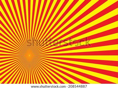 Sun Burst Effect. Vector - stock vector