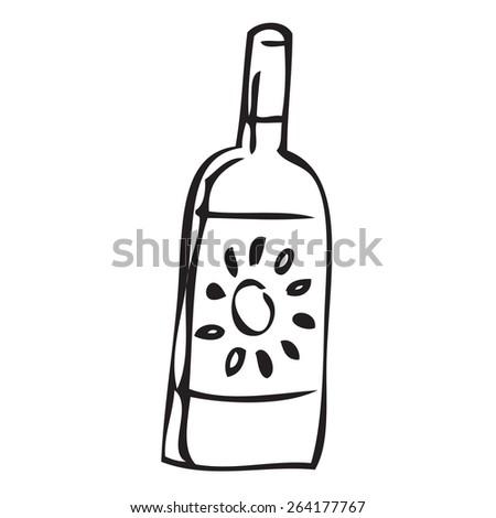 Sun Cream Doodle - stock vector