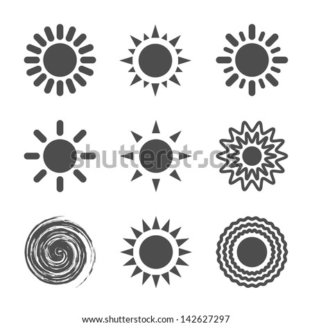 Sun icon. Vector illustration. - stock vector