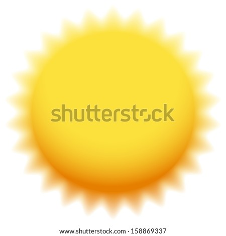 Sun Icon with transparent rays (eps 10 blend) - stock vector