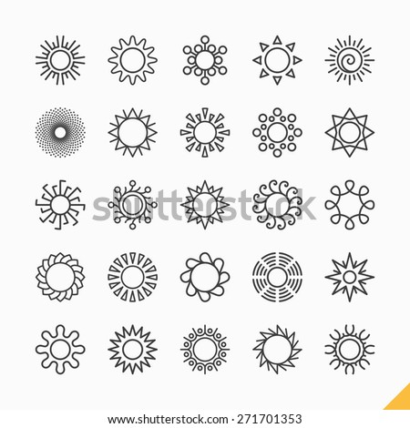Sun icons vector illustration - stock vector