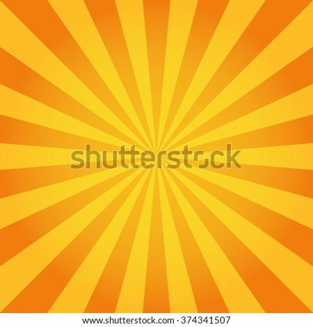 Sun rays. Vector - stock vector