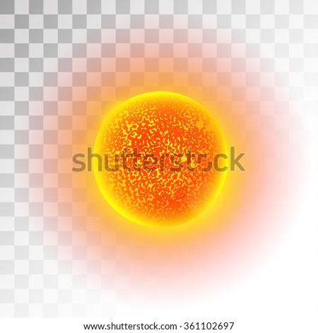 Sun star planet 3d vector illustration. Globe Sun star texture map. Globe vector Sun view from space. Sun star illustration. Geography vector Sun. Sun star silhouette, world map, 3d Sun - stock vector