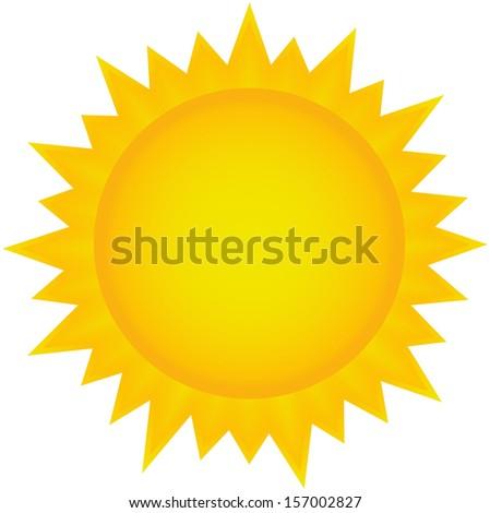 Sun, Summer, Tanning, Solarium, Holiday, Nature, Sun rays, hot, warm, Mediterranean vector (illustration) - stock vector
