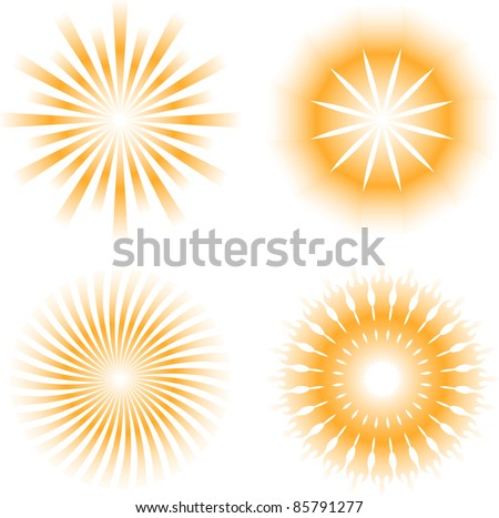 sunburdt abstract design elements - stock vector