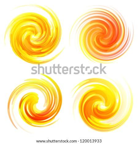Sunburst abstract vector. - stock vector
