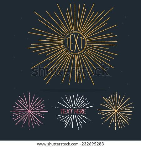 sunburst in hand draw style- vector illustration - stock vector