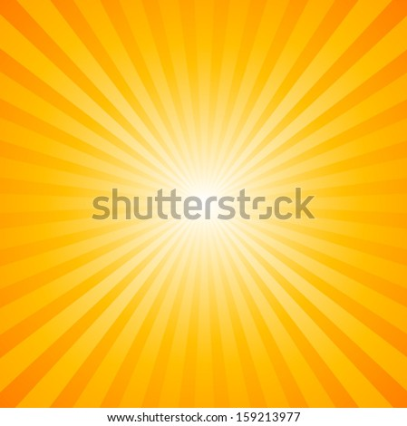 Sunburst Pattern. Radial background - stock vector