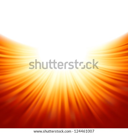 Sunburst rays of sunlight tenplate. EPS 8 vector file included - stock vector